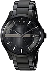 Armani Exchange Black Stainless Steel Watch AX2104