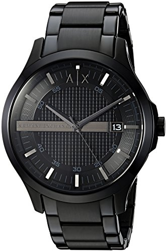 Mens Designer Watch (Armani Exchange Men's AX2104  Black  Watch)