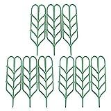 Leaf Trellis, YUIOP Garden Trellises, 9Pcs,Mini Climbing Trellis DIY Garden Plant Pot Support,Ties Support Flowers Stalks