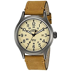 Timex Men's TWC001200 Expedition Scout Natural/Tan Leather Strap Watch