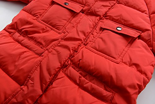 M2C Boys Winter Faux Fur Hooded Warm Insulated Jacket Parka 6/7 Red by M2C (Image #4)