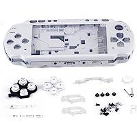 ASHATA Carcasa para PSP 3000,Reemplazo de Funda Protectora para Consola de Juegos de Mano,Antideslizante, Antiarañazos.(Blanco)