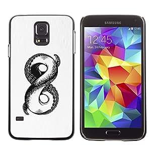 Caucho caso de Shell duro de la cubierta de accesorios de protección BY RAYDREAMMM - Samsung Galaxy S5 SM-G900 - Octopus Monster Infinity