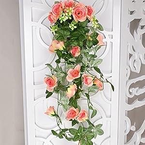 3 Feet Artificial Rose Vine Fake Flower Garland for Wedding Home Garden Party Decoration 69