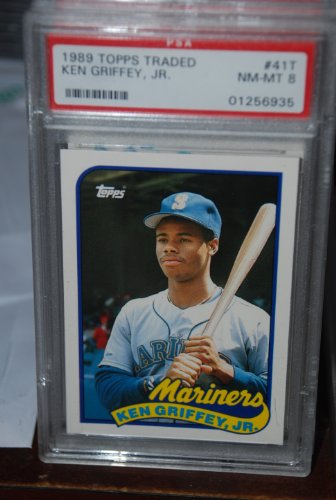 PSA 8 1989 Topps Traded Ken Griffey Jr Baseball Card #41T Seattle Mariners (Mariners Seattle Ken)