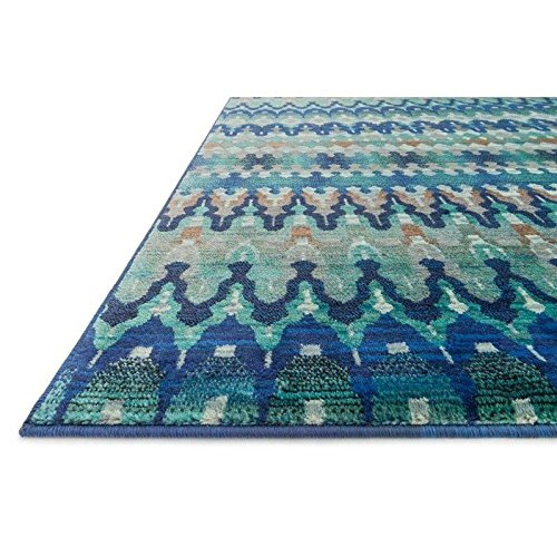 Loloi Rugs Madeline Collection Contemporary Area Rug, 3-Feet 9-Inch by 5-Feet 2-Inch, Blue/Multi by Loloi (Image #1)
