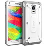 Samsung Galaxy Note 4 Case, SUPCASE [Heavy Duty] Belt Clip Holster Case for Galaxy Note 4 [Unicorn Beetle PRO Series] Full-body Rugged Hybrid Protective Cover with Built-in Screen Protector (White/Gray), Dual Layer Design + Impact Resistant Bumper
