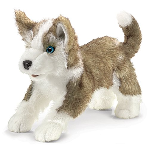 Folkmanis Wolf Pup Hand Puppet Big Mouth Animal Puppets