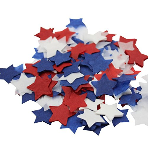 Mybbshower Red White Blue 4th of July Star Confetti Patriotic Party Decorations Pack of 4000 Pieces - Blue Star Ltd