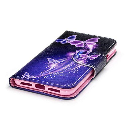 Ecoway Serie pintada Caja del teléfono de moda para Apple Iphone X - Couple Violet butterfly