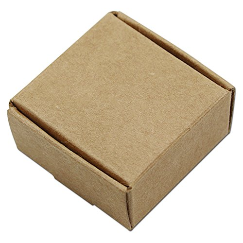 Chocolate Brown Gift Boxes - 20Pcs Foldable Brown Kraft Paper Box Recyclable Eco-friendly Gift Candy Chocolate Small Craft Packaging Boxes (8x8x4cm (3.1x3.1x1.6 inch))