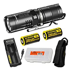 Carry light everywhere you go with the NITECORE MT10C super bright 920 lumen compact tactical flashlight. The MT10C boasts a powerful red light suitable for outdoor applications that preserves night vision while hunting without attracting ins...