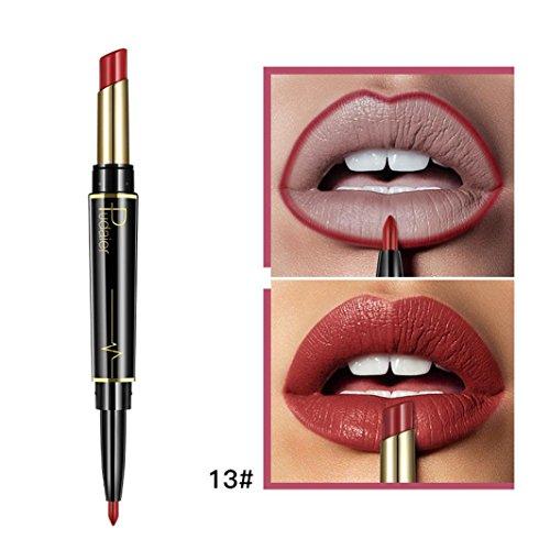 Inverlee New Lip Liner Pencil Double-end Lasting Lipliner Waterproof Lip Liner Stick Pencil Long Lasting Lipliner Makeup Tools Cosmetic 16 Color (M)