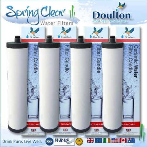 4 x Wedge - Franke Triflow Compatible Filter Cartridges By Doulton M15 Ultracarb (NO Import Duty or Taxes to pay on this product)