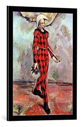 kunst für alle Framed Art Print: Paul Cézanne Harlequin 1890