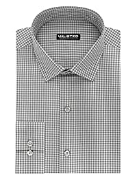 Kenneth Cole REACTION Mens Unlisted Slim Fit Check Spread Collar Dress Shirt