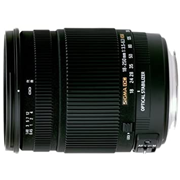 Sigma 18-250mm f/3 5-6 3 DC OS HSM IF Lens for Nikon Digital SLR Cameras
