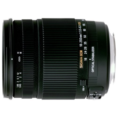 Sigma 18-250mm f/3.5-6.3 DC OS HSM IF Lens for Pentax Digital SLR Cameras by Sigma
