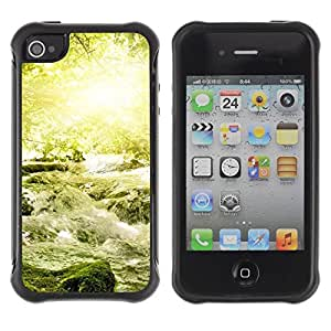"Hypernova Defender Series TPU protection Cas Case Coque pour Apple iPhone 4 / iPhone 4S [Naturaleza Hermosa Forrest Verde 18""]"