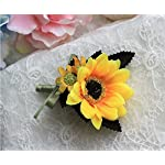 3pcs-Bride-Groom-Bridesmaid-Wedding-Boutonniere-Corsage-Simulation-Sunflower