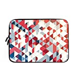 Elvoes Colorful Geometric Pattern 11/11.6 Inch Laptop Sleeve Case Bag For MaSoft Neoprene Water Resistance Computer...