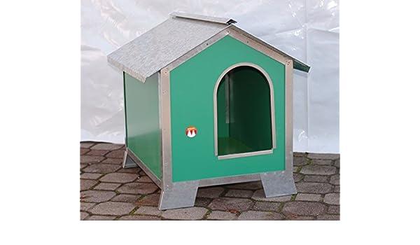Caseta para perros Talla Media en madera con perfiles de acero (Medidas 76 x 56 x 77): Amazon.es: Bricolaje y herramientas