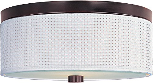 ET2 E95002-100OI Elements 2-Light Flush Mount, Oil Rubbed Bronze Finish, Glass, MB Incandescent Incandescent Bulb, 18W Max., Dry Safety Rated, 3000K Color Temp., Standard Triac/Lutron or Leviton Dimmable, Stainless Steel - Elements Oil 100oi