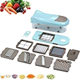 Food Choppers And Dicers, Mandolin Food Slicer Dicer, Interchangeable Blades Set, with Food Container & Cleaning Brush for Potato Tomato Onion Salad Fruit,11in1
