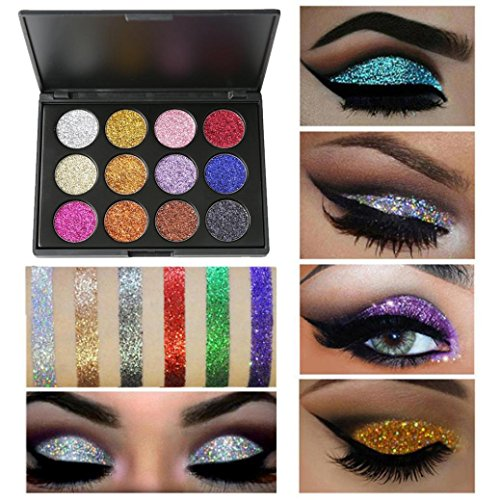 12 Colors Eyeshadow Matte Palette, Staron Shimmer Eye Shadow Glitters Cosmetic Powder Palette Eyeshadow Makeup Palettes (Multicolor)