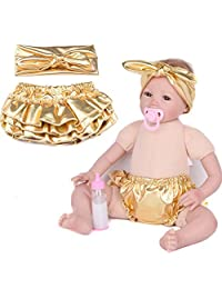 Tenworld Baby Gilding Newborn Photography Headbands Shorts Toddler PP Pants Set