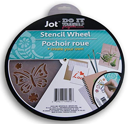Multi-Media Stencil Wheel - Includes 6 Distinct Patterns - 9.75 Inch Diameter (Butterfly)