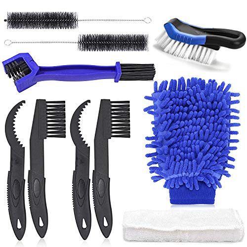 kit, Bicycle Clean Brush Set, Bike Chain/Crank/Sprcket/Tire/Cassette Cleaner Kit, Great Bicycle Accessories Brush Tool fit BMX Mountain Road City Hybrid and Folding Bike ()