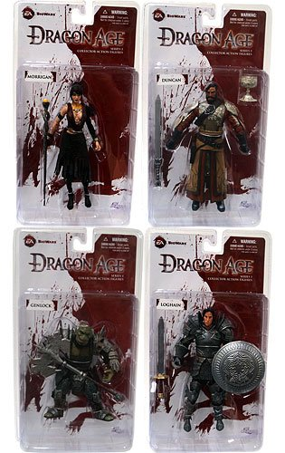 DC Direct Dragon Age Origins Series 1 Set of 4 Action Figures Morrigan, Loghain, Genlock Duncan