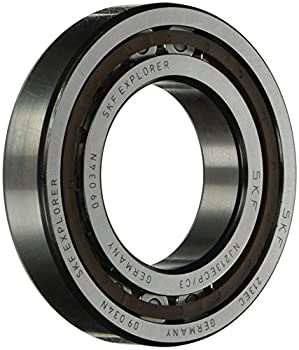 SKF NJ 213 ECP/C3 Cylindrical Roller Bearing, Single Row, Removable Inner Ring, Flanged, Straight Bore, High Capacity, C3 Clearance, Polyamide/Nylon Cage, Metric, 65mm Bore, 120mm OD, 23mm Width