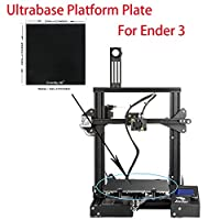 Creality 3D Printer Platform Heated Bed Build Surface Tempered Glass Plate for Ender 3 3D Printer 235x235x3mm by Creality 3D