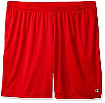 Champion Men's Long Mesh Short with Pockets,Crimson,Small