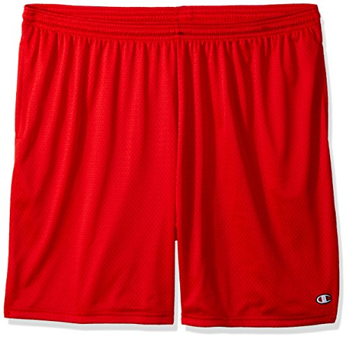 Champion Men's Long Mesh Short with Pockets,Crimson,Large from Champion