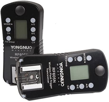 YONGNUO RF605N 2X Camera Wireless Flash Trigger with 2X LS-2.5 Shutter Connecting Cable for Nikon Camera Flash Trigger