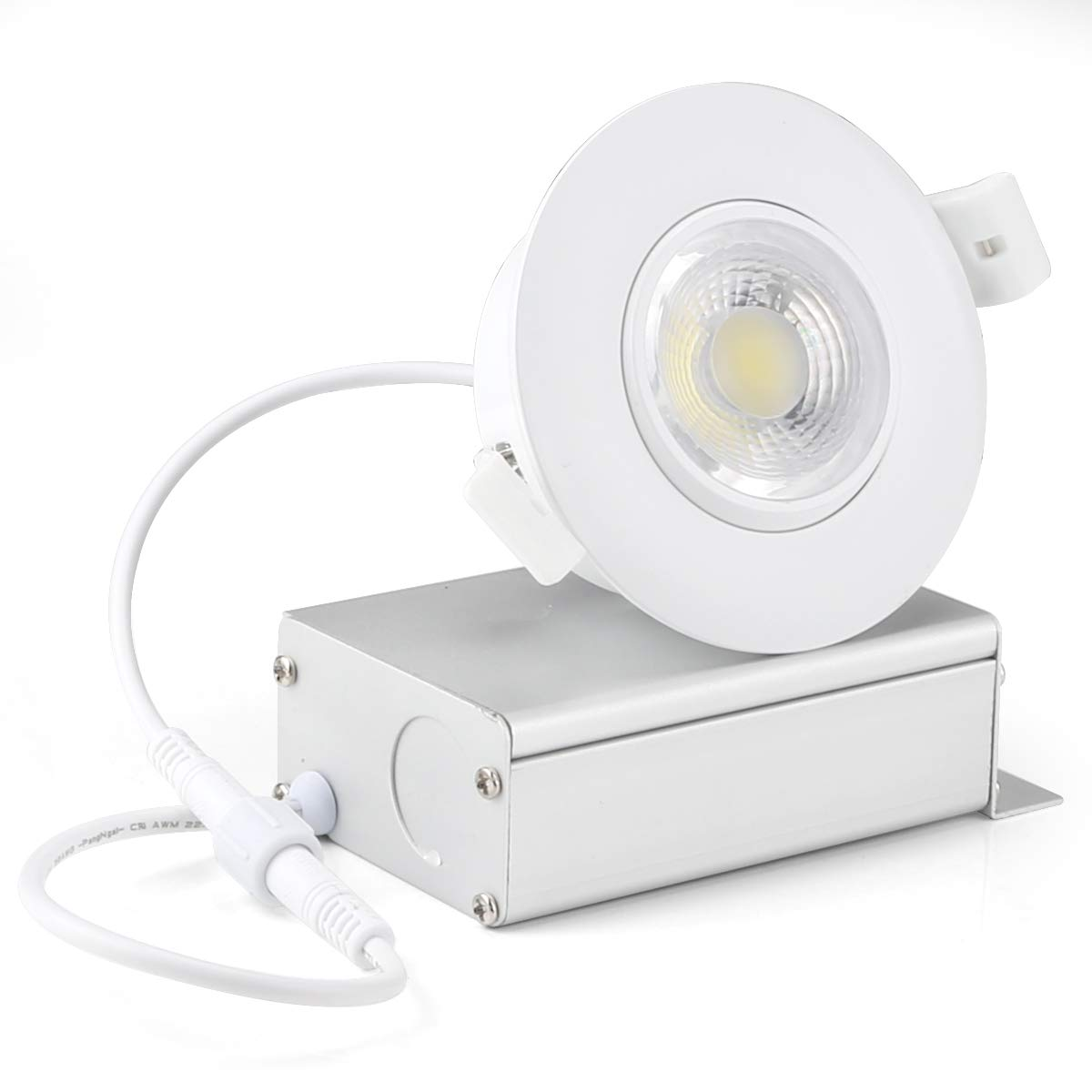 (4 Pack) NICKLED 8W 3 inches LED Eyeball Recessed Lighting Kit Dimmable Downlight-Directional Adjustable Fixture Without Can and Trim (65W Replacement) 3000K Warm White,800lm-ETL Energy Star Approved Shenzhen NickLED LED eyeball light