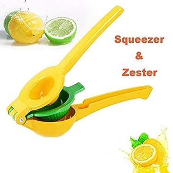 tomate Exprimidor Manual de Limón Cítricos Naranja de Plástico Prensa de Frutas, 2 en 1