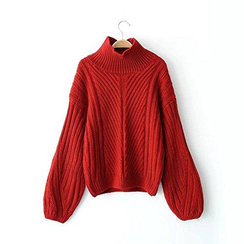 m Dnhuv Autunno Moda Corrisponde A rosso Inverno Alto E Un Tutto Maglione PRCBPqx