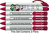 Scripture Pen by Greeting Pen- Personalized Country Chapel Rotating Message Pen-3 pack- P-CC-201-3