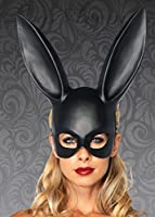 Adult Womens Gothic Black Rabbit Eyemask with Ears