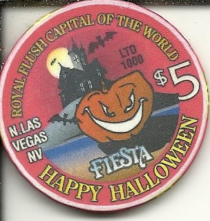 ($5 fiesta happy halloween las vegas casino chip)