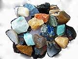 Fundamental Rockhound Products: 1/2 lb Rough Brazil Mix Bulk Rock for Tumbling Metaphysical Gemstones Healing Crystals Minimum 10 Different