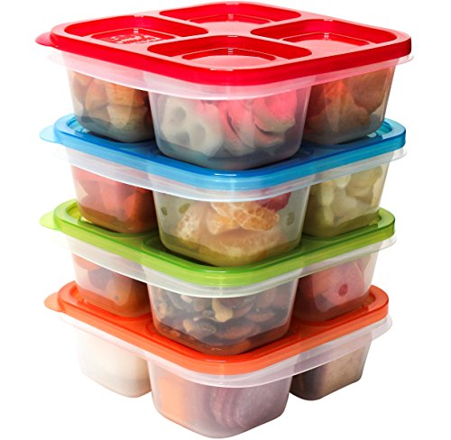 EasyLunchboxes 4-Compartment Snack Box Food Containers, Set of 4, Classic by EasyLunchboxes (Image #4)