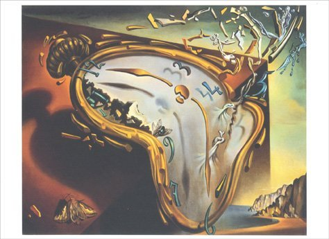 (Soft Watch at the Moment of First Explosion - Salvador Dali Blank Card)