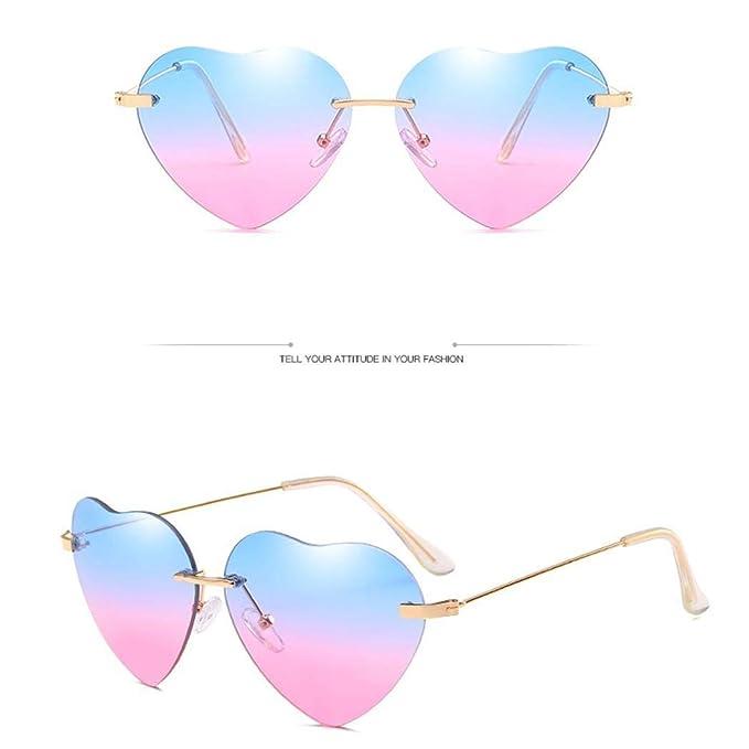 Occhiali da sole a forma di cuore retrò da uomo UV400 da donna Occhiali da sole