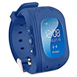 TURNMEON Smart Watch Phone for Kids Boys Girls GPS Children Fitness Tracker Smartwatch Birthday Gifts with SIM Calls Anti-lost SOS Voice Chat Bracelet Wrist Watch for Travel Camping Android iOS APP (Royal Blue)