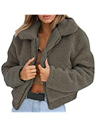 Clearanc Sales Leopard Faux Fur Jackets Winter Coat Outwear Womens AfterSo